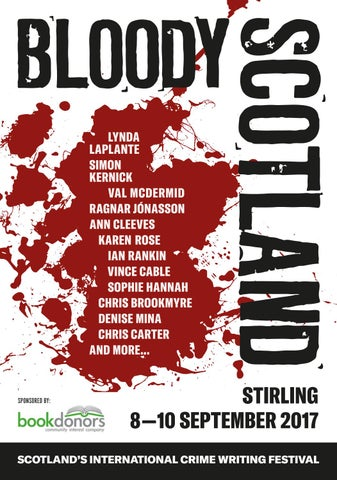 Image result for bloody scotland brochure