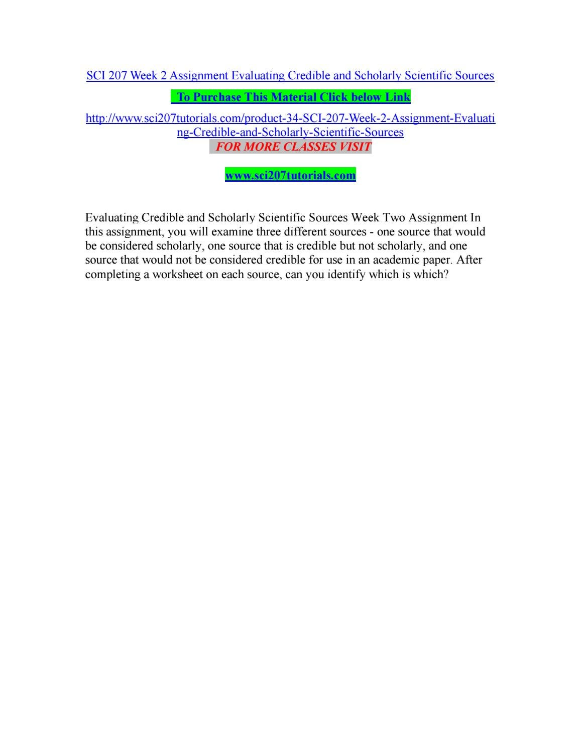 worksheet Evaluating Sources Worksheet sci 207 week 2 assignment evaluating credible and scholarly scientific sources by johan36 issuu