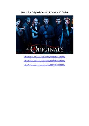 Watch the originals season 4 episode 10 online by cintami - issuu