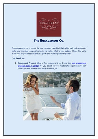 Unique Proposal Ideas By The Engagement Co Issuu
