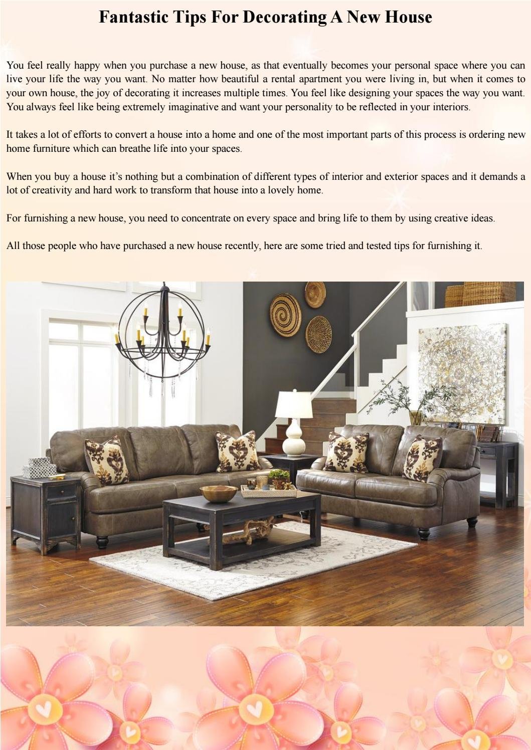 Fantastic Tips For Decorating A New House By Furniture Store LA   Issuu