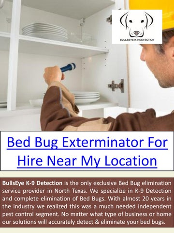 Bed Bug Control Near Me By Bed Bug Exterminator Issuu