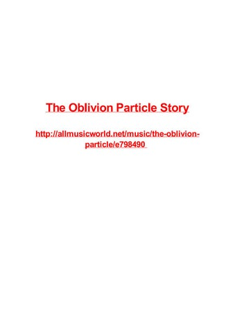 the oblivion particle story by frank seamons issuu