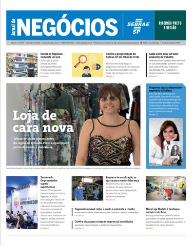 fd8dbcd84 Jornal de Negócios Sebrae-SP - 01 de dezembro de 2014 - Riberião Preto e  Região