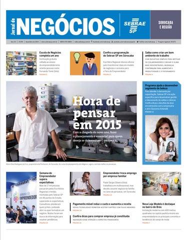 13a427063 Jornal de Negócios Sebrae-SP - 01 de dezembro de 2014 - Sorocaba e Região
