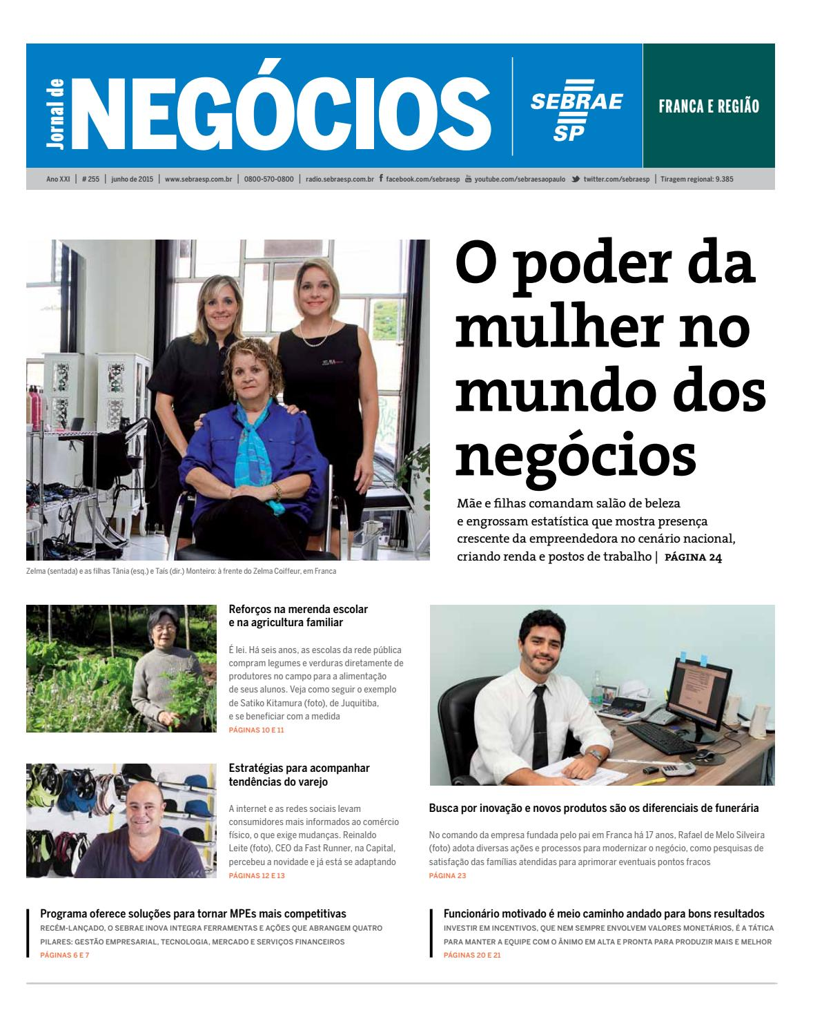399201275fe50 Jornal de Negócios Sebrae-SP - 01 de junho de 2015 - Franca e Região by  Sebrae-SP - issuu