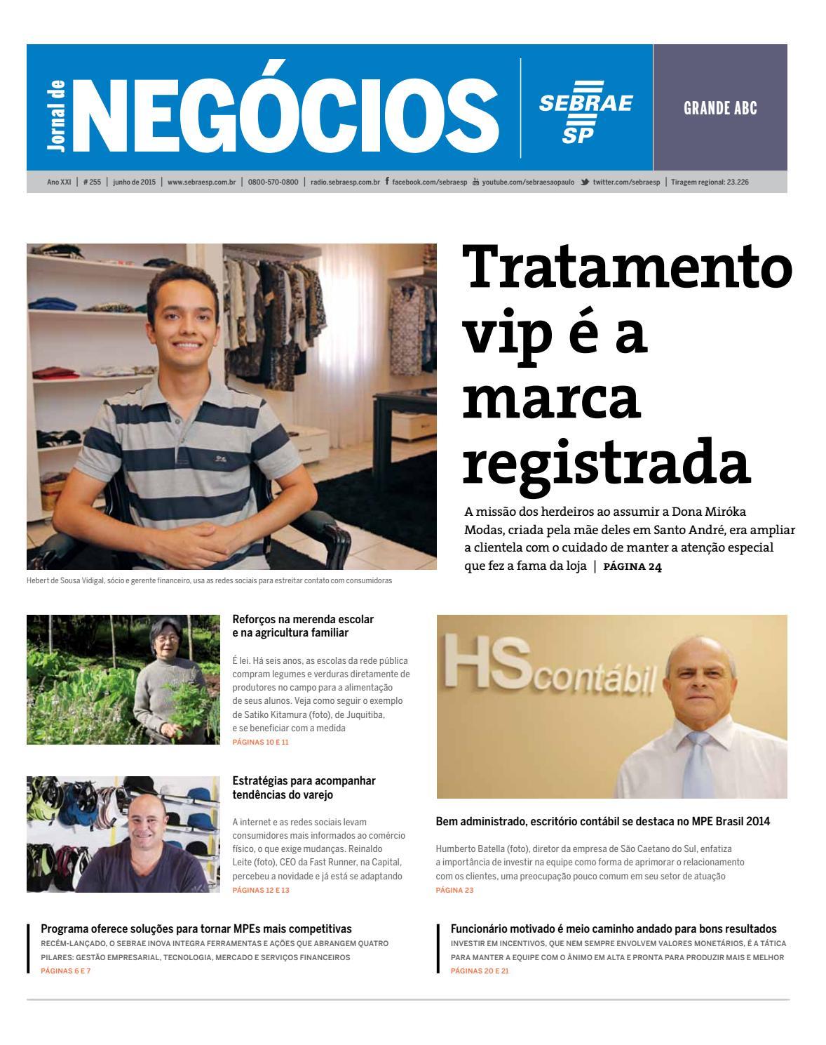 ea489e85eee Jornal de Negócios Sebrae-Sp - 01 de junho de 2015 - Grande ABC by  Sebrae-SP - issuu