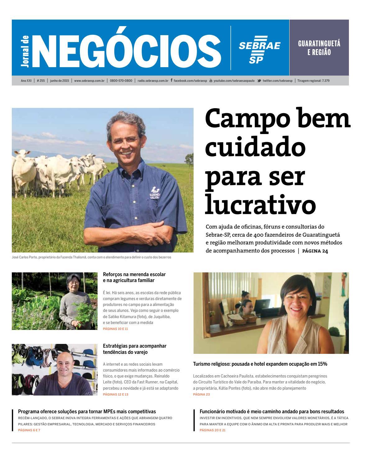 3c0faf56e2 Jornal de Negócios Sebrae-SP - 01 de junho de 2015 - Guaratinguetá e Região  by Sebrae-SP - issuu