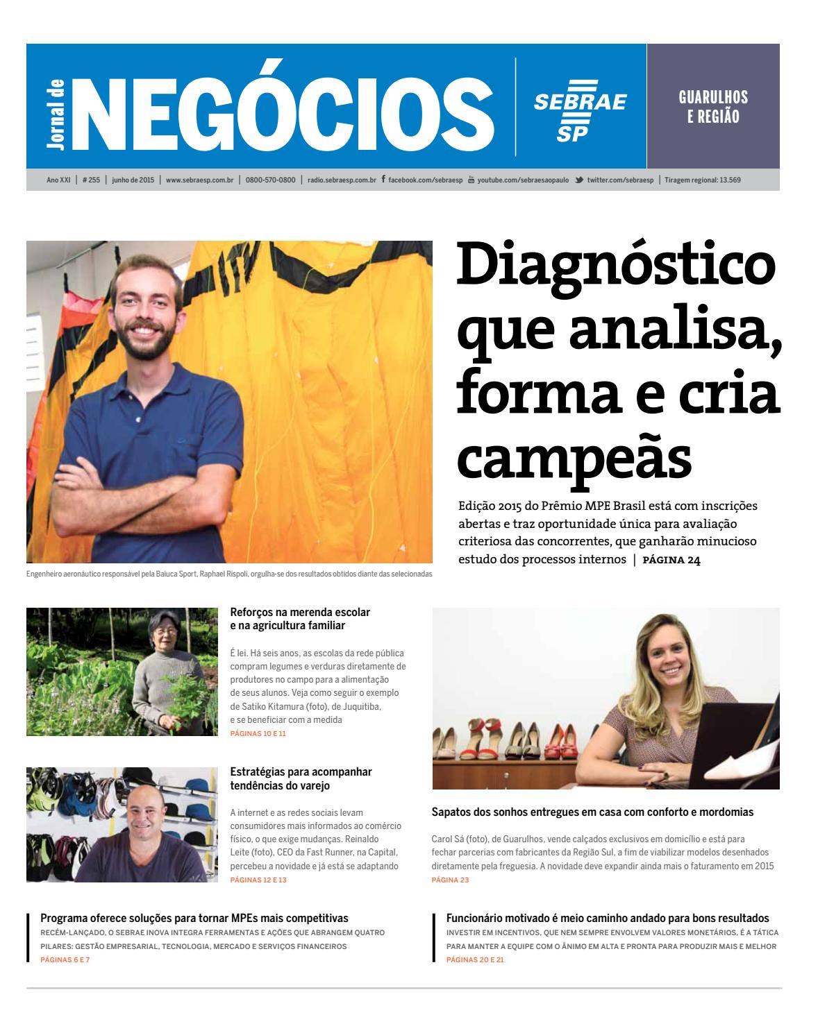 a9a612d4e99 Jornal de Negócios Sebrae-SP - 01 de junho de 2015 - Guarulhos de Região by  Sebrae-SP - issuu