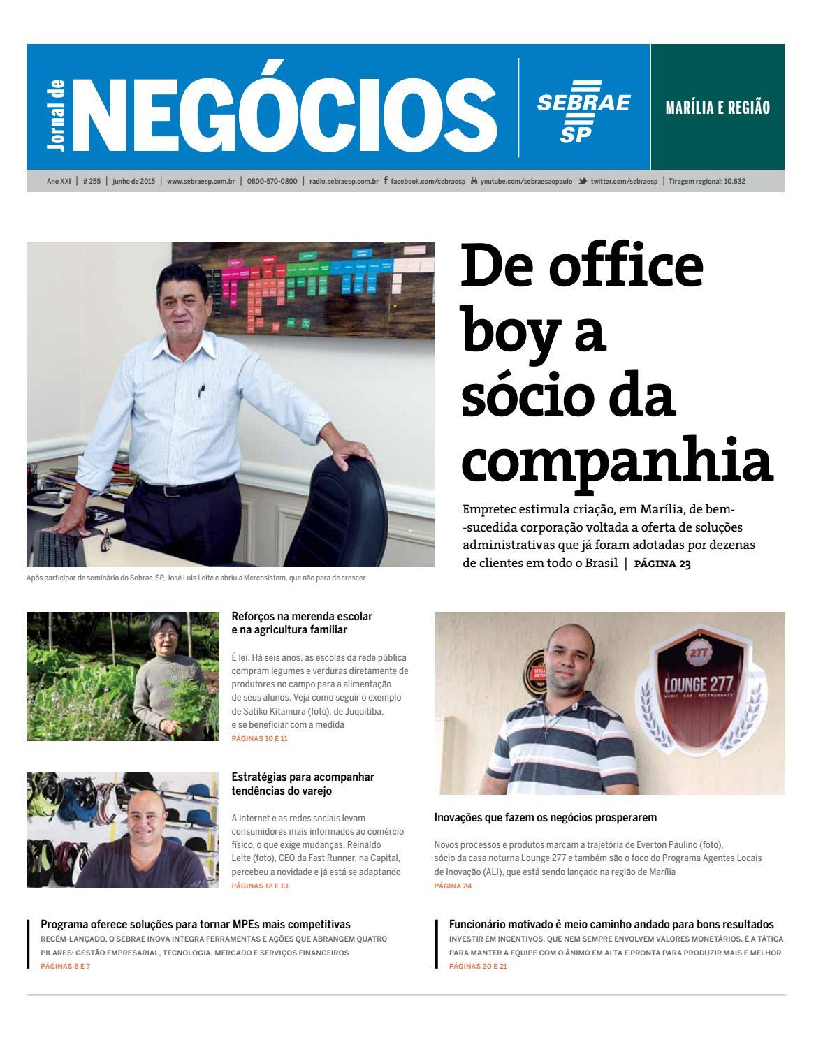 50e67f23ec7 Jornal de Negócios Sebrae-SP - 01 de junho de 2015 - Marília e Região by  Sebrae-SP - issuu