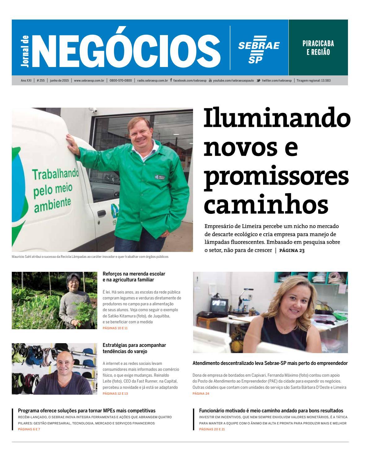 d122f427832 Jornal de Negócios Sebrae-SP - 01 de junho de 2015 - Piracicaba e Região by  Sebrae-SP - issuu