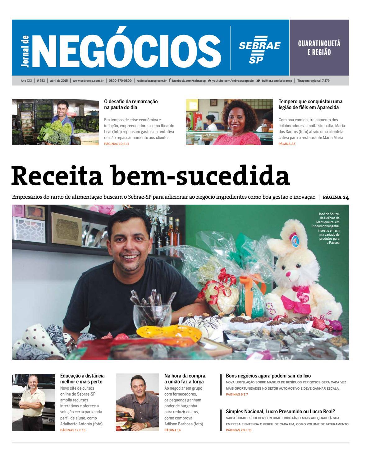 Jornal de Negócios Sebrae-SP - 01 de Abril de 2015 - Guaratinguetá e  Regiões by Sebrae-SP - issuu 5736b7215d