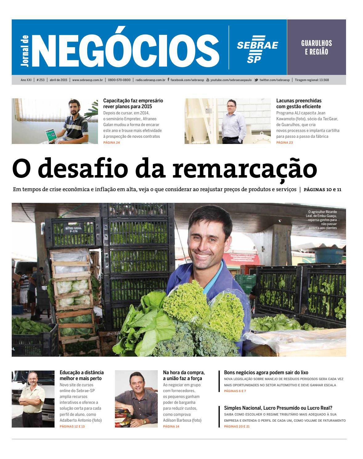 197eeabec Jornal de Negócios Sebrae-SP - 01 de Abril de 2015 - Guarulhos e Região by  Sebrae-SP - issuu