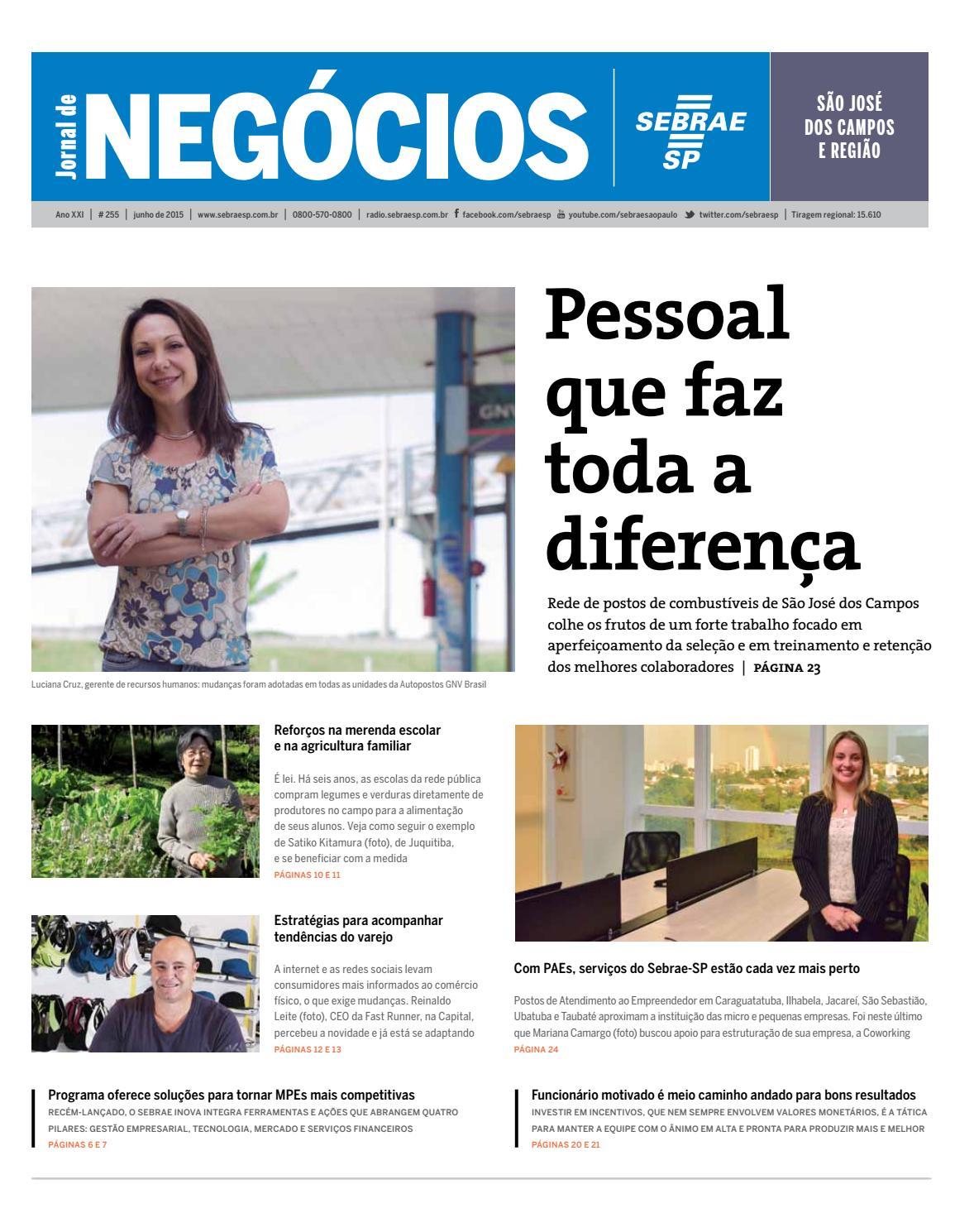 575552fcea1 Jornal de Negócios Sebrae-SP - 01 de junho de 2015 - São José dos Campos e  Região by Sebrae-SP - issuu