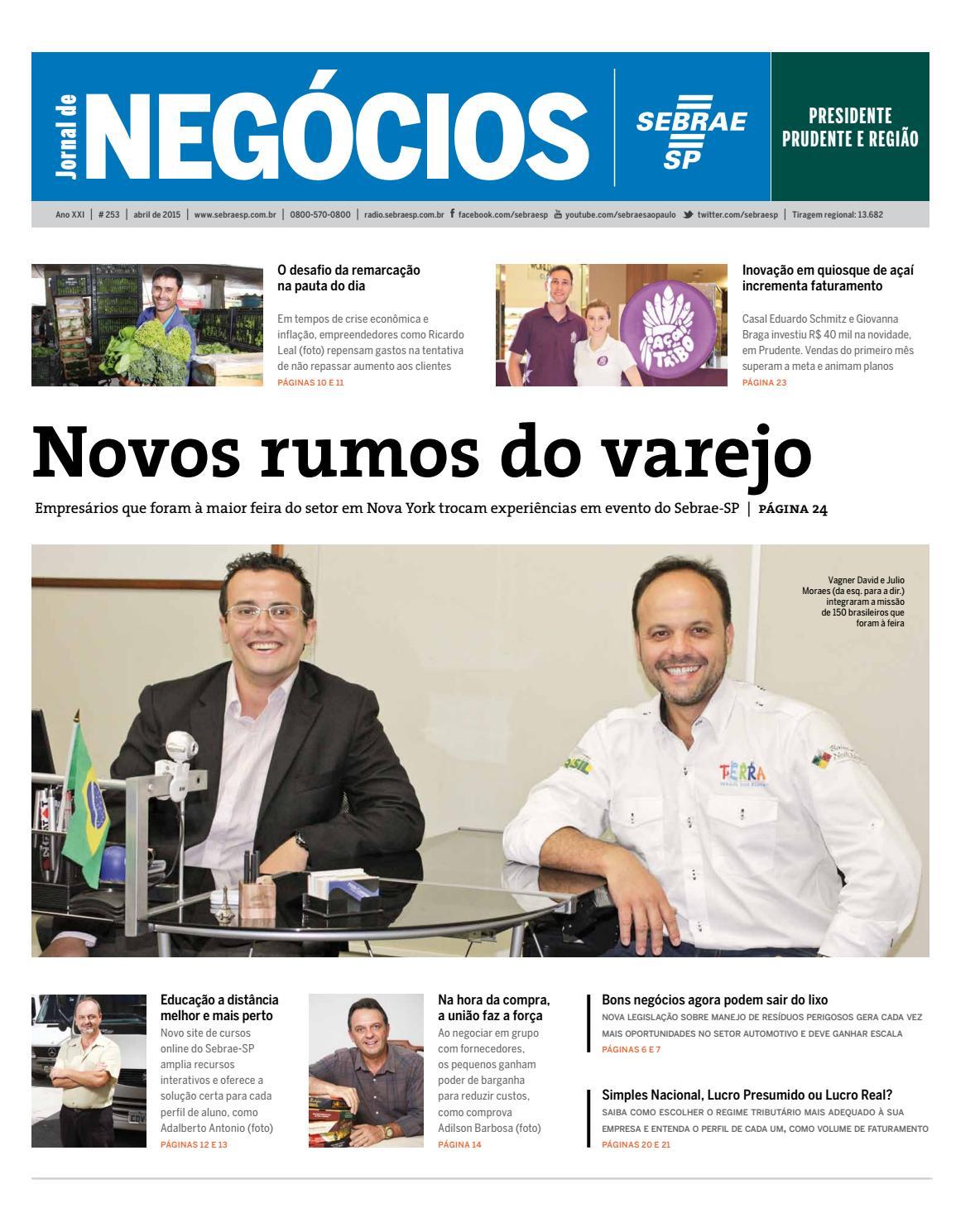 721fd2b31ebda Jornal de Negócios Sebrae-SP - 01 de Abril de 2015 - Presidente Prudente e  Região by Sebrae-SP - issuu