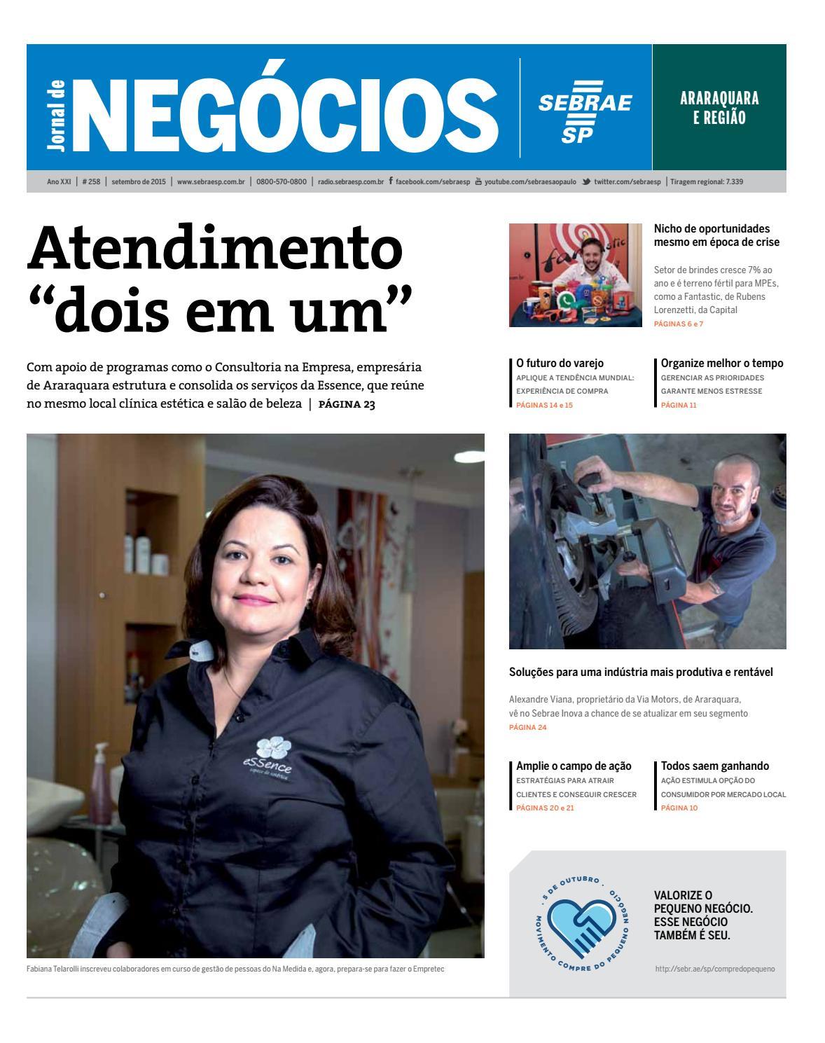 00ec60ca4 Jornal de Negócios Sebrae-SP - 01 de setembro de 2015 - Araraquara e Região  by Sebrae-SP - issuu