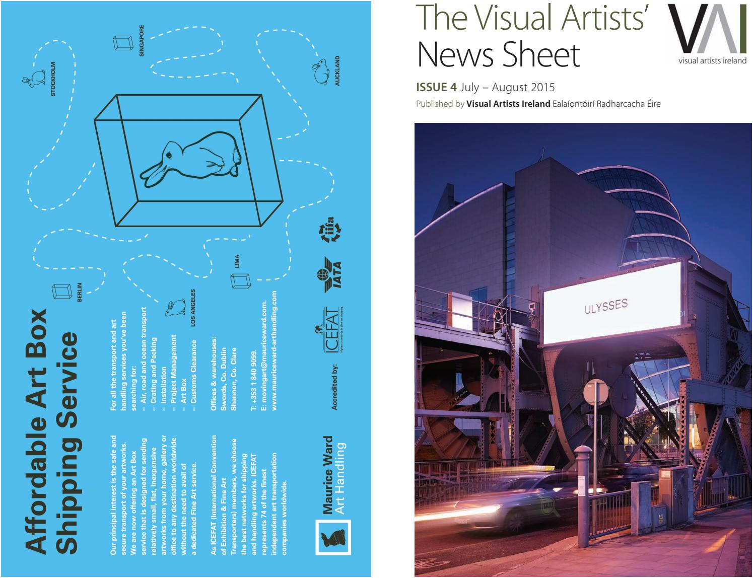 Visual Artists\' News Sheet - 2015 July August - by ...