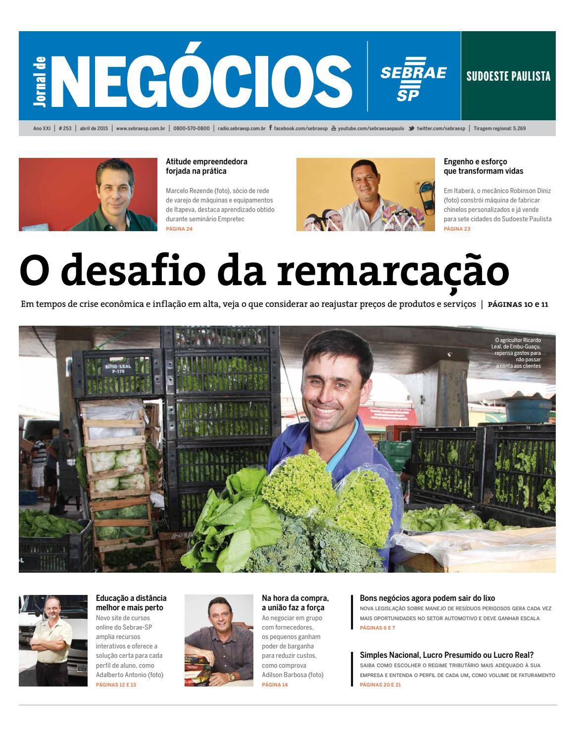 e275732ee0c46 Jornal de Negócios Sebrae-SP - 01 de Janeiro de 2015 - Sudoeste Paulista e  Região by Sebrae-SP - issuu