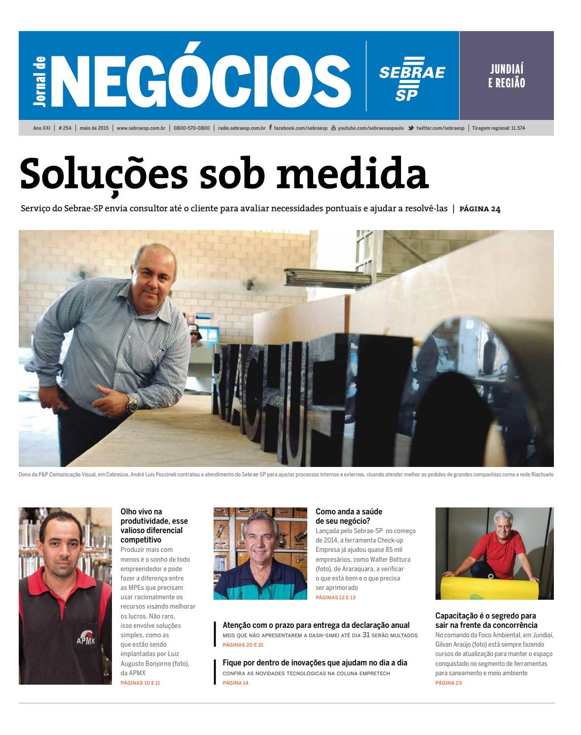 Jornal De Neg Cios Sebrae Sp 01 De Maio De 2015 Jundia E
