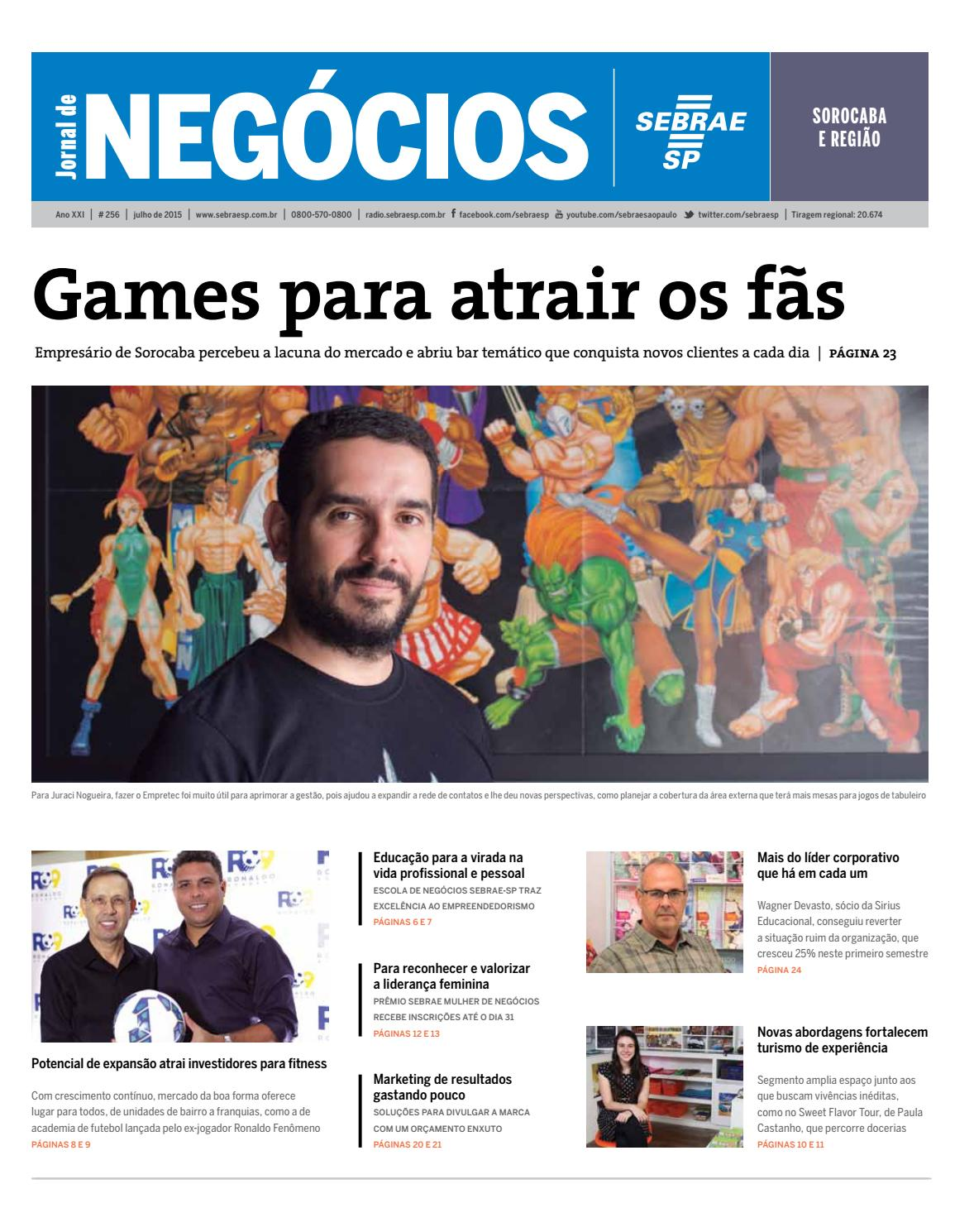 a7bac9024 Jornal de Negócios Sebrae-SP - Julho de 2015 - Sorocaba e região by  Sebrae-SP - issuu