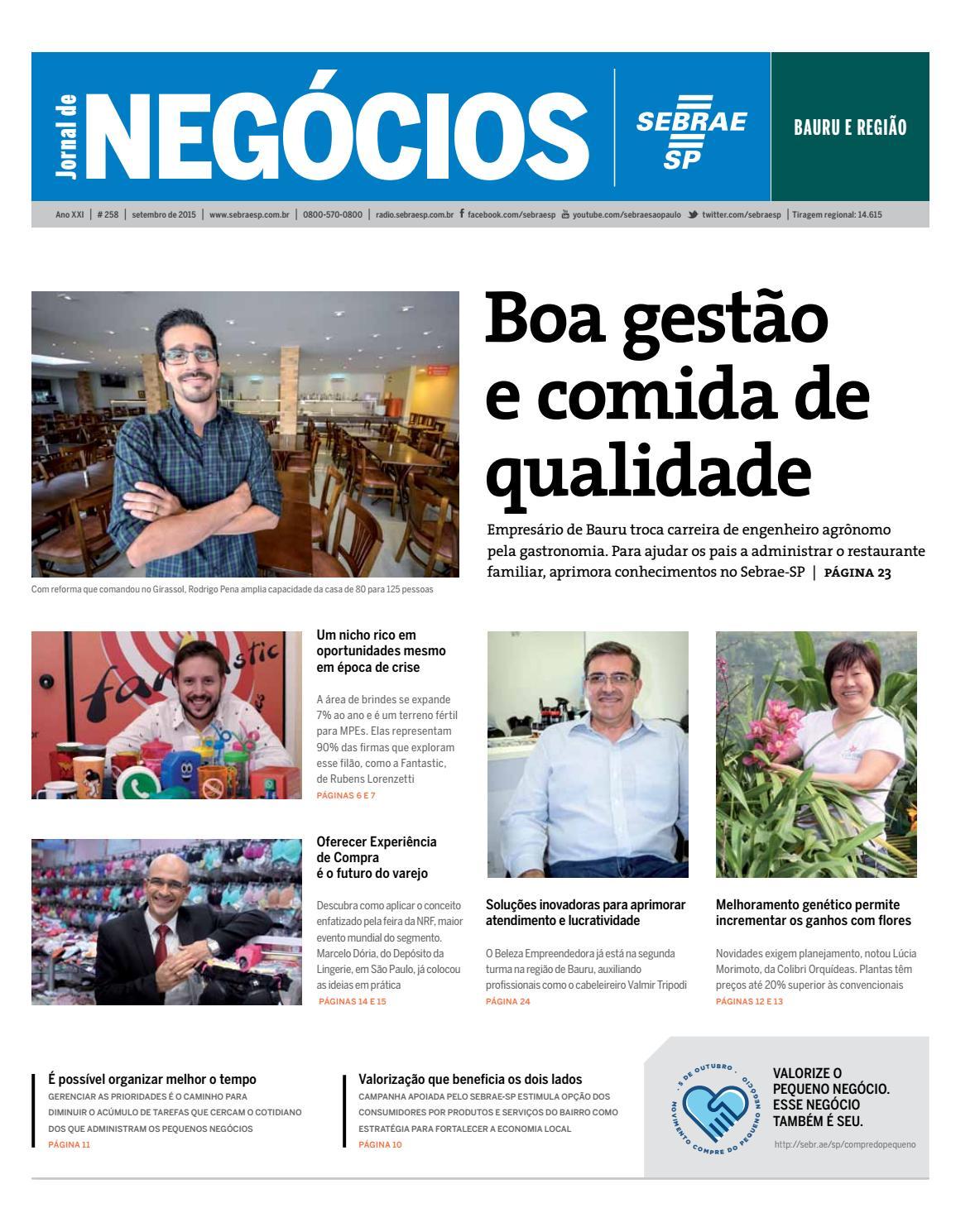 573152074 Jornal de Negócios Sebrae-SP - 01 de setembro de 2015 - Bauru e Região by  Sebrae-SP - issuu