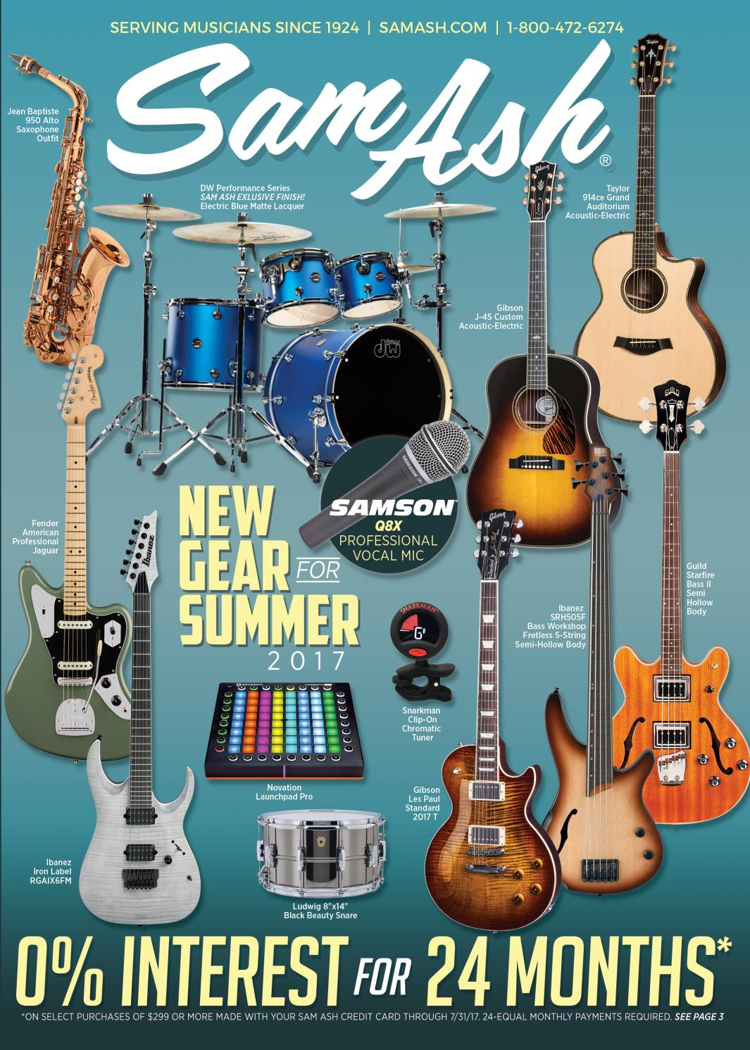 Summer 2017 Sam Ash Gear Guide by Sam Ash Music Corp. - issuu