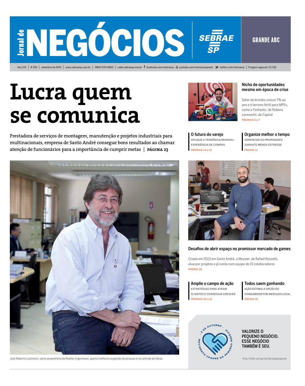 f3dce458d Jornal de Negócios Sebrae-SP - 01 de setembro de 2015 - Grande ABC by  Sebrae-SP - issuu