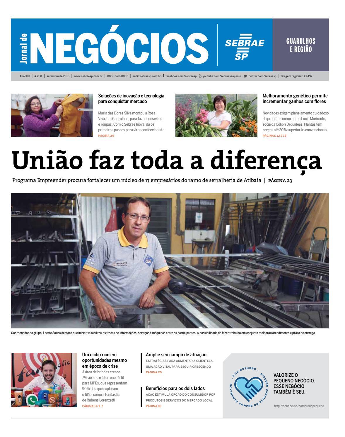 1f5a19cee0c Jornal de Negócios Sebrae-SP - 01 de setembro de 2015 - Guarulhos e Região  by Sebrae-SP - issuu