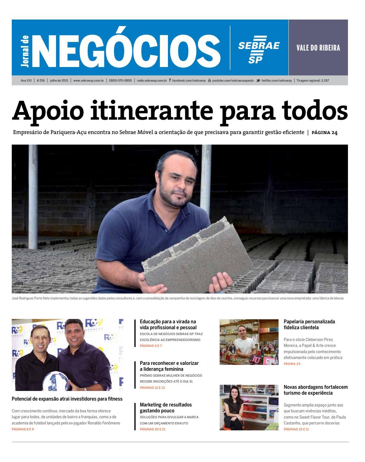 Jornal de Negócios Sebrae-SP - Julho de 2015 - Vale do Ribeira e região by  Sebrae-SP - issuu 19c6bee6ff6b1