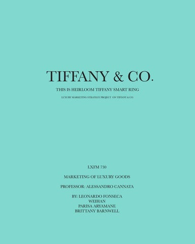 Marketing Strategy For Wearable Jewelry For Tiffany Co By Weihan Issuu