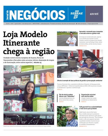 6e846397f16 Jornal de Negócios Sebrae-SP - Agosto de 2015 - Alto Tietê e região ...