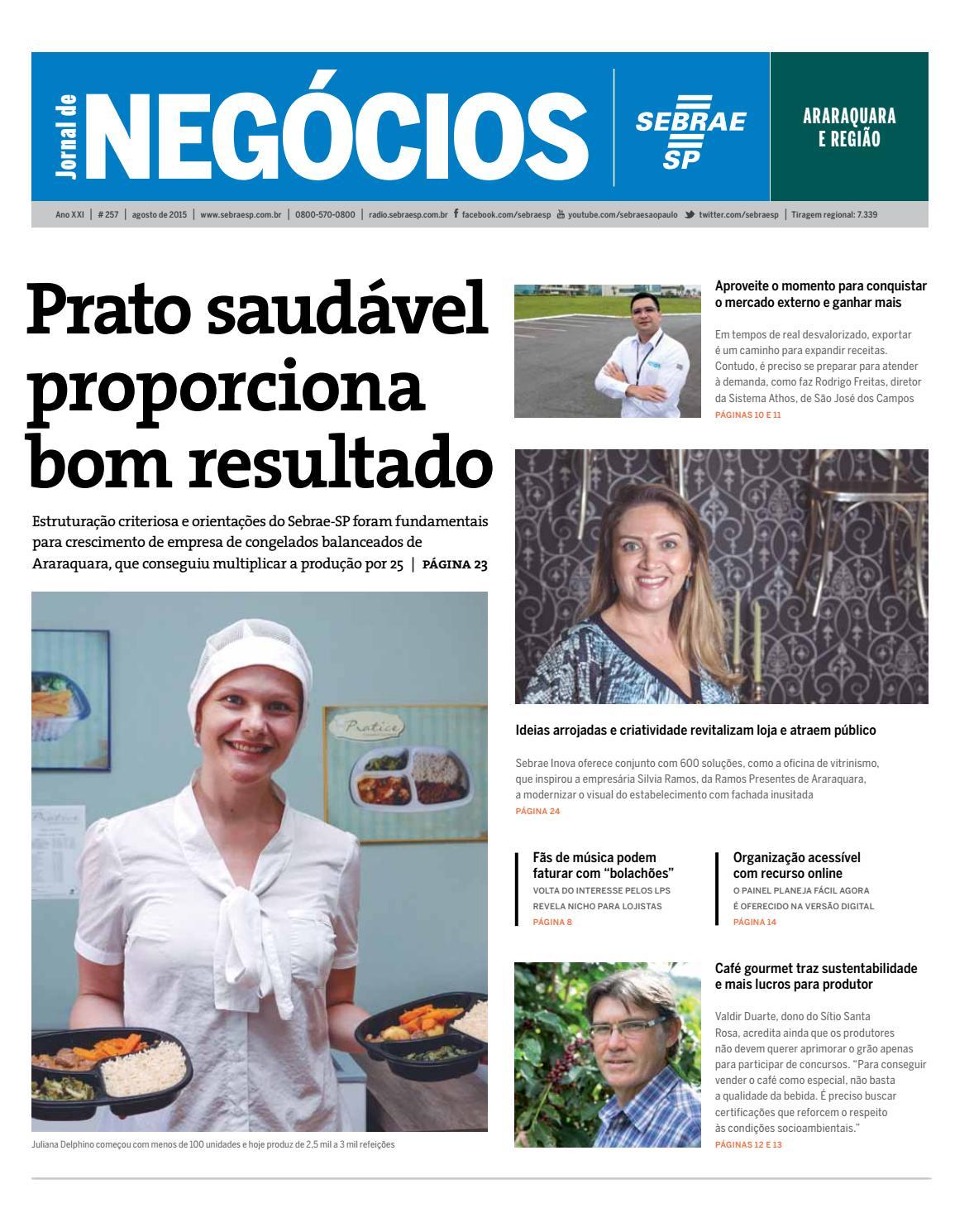 f44e54b6dc983 Jornal de Negócios Sebrae-SP - Agosto de 2015 - Araraquara e região by  Sebrae-SP - issuu