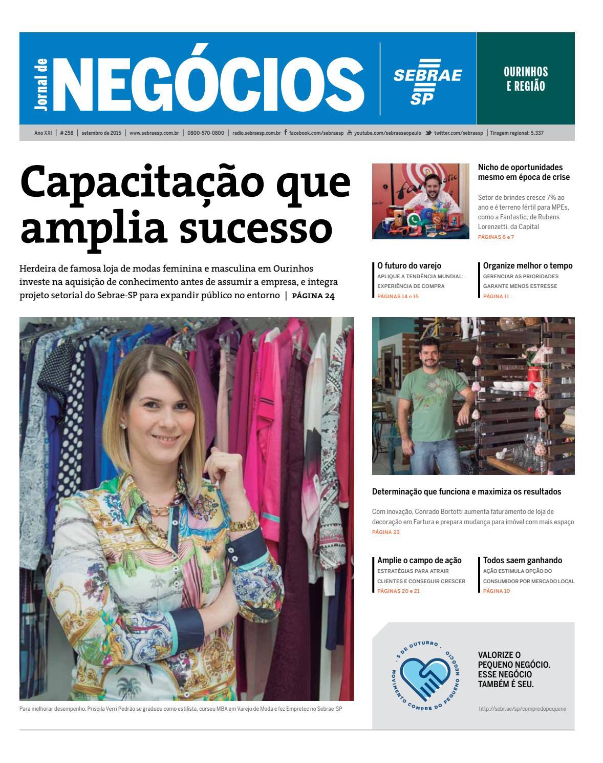 0a9e200b7f4 Jornal de Negócios Sebrae-SP - 01 de setembro de 2015 - Ourinhos e Região  by Sebrae-SP - issuu