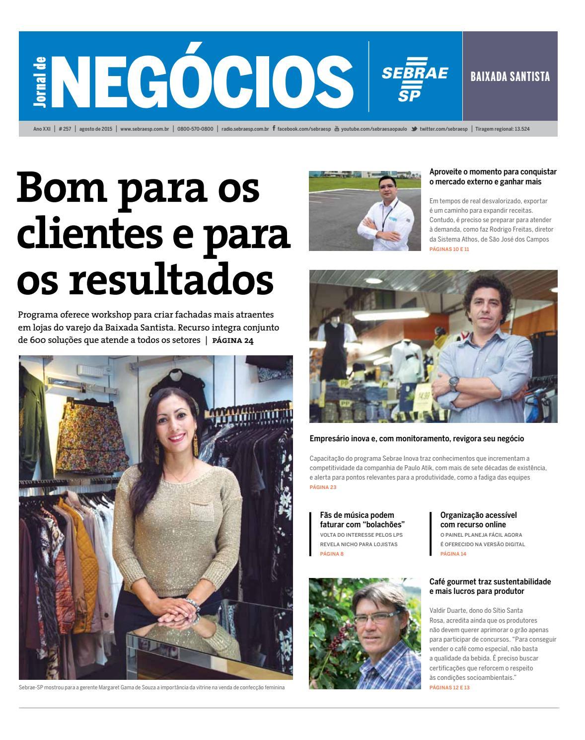 16ed6894d45 Jornal de Negócios Sebrae-SP - Agosto de 2015 - Baixada Santista e região  by Sebrae-SP - issuu
