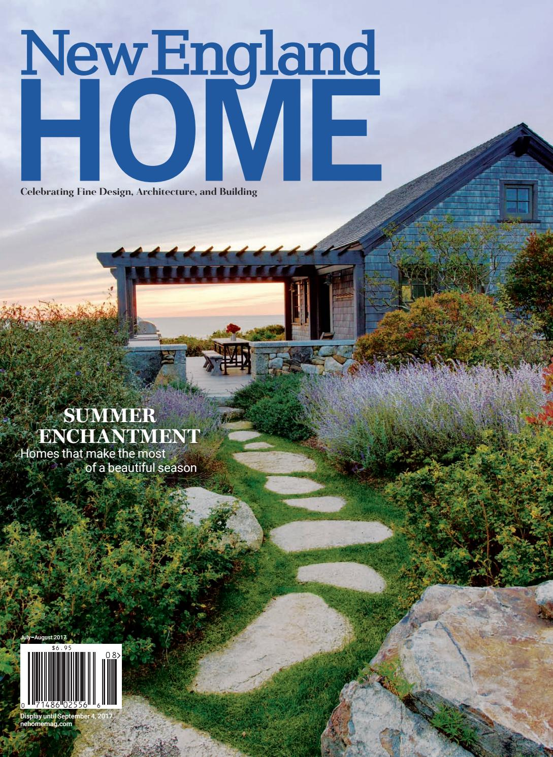 New england home july august 2017 by new england home for Style at home august 2017