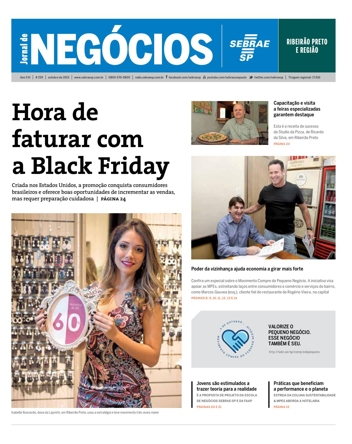 9046c2d62 Jornal de Negócios Sebrae-SP - 01 de outubro 2015 - Ribeirão Preto e Região  by Sebrae-SP - issuu