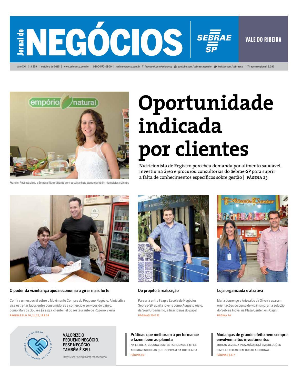 f49e18cb3 Jornal de Negócios Sebrae-SP - 01 de outubro de 2015 – Vale do Ribeira by  Sebrae-SP - issuu