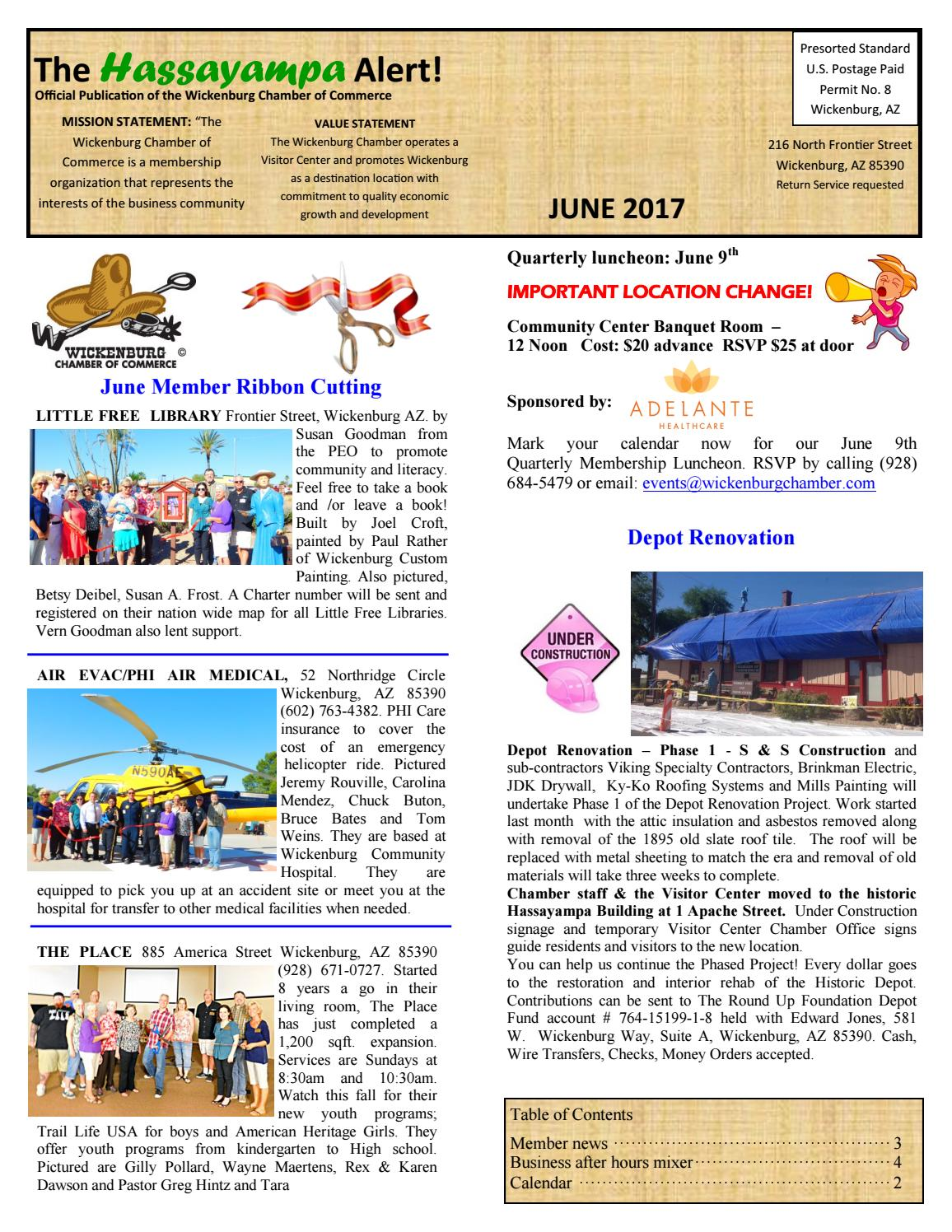 Hassayampa Alert June 2017 By Wickenburg Chamber Of Commerce