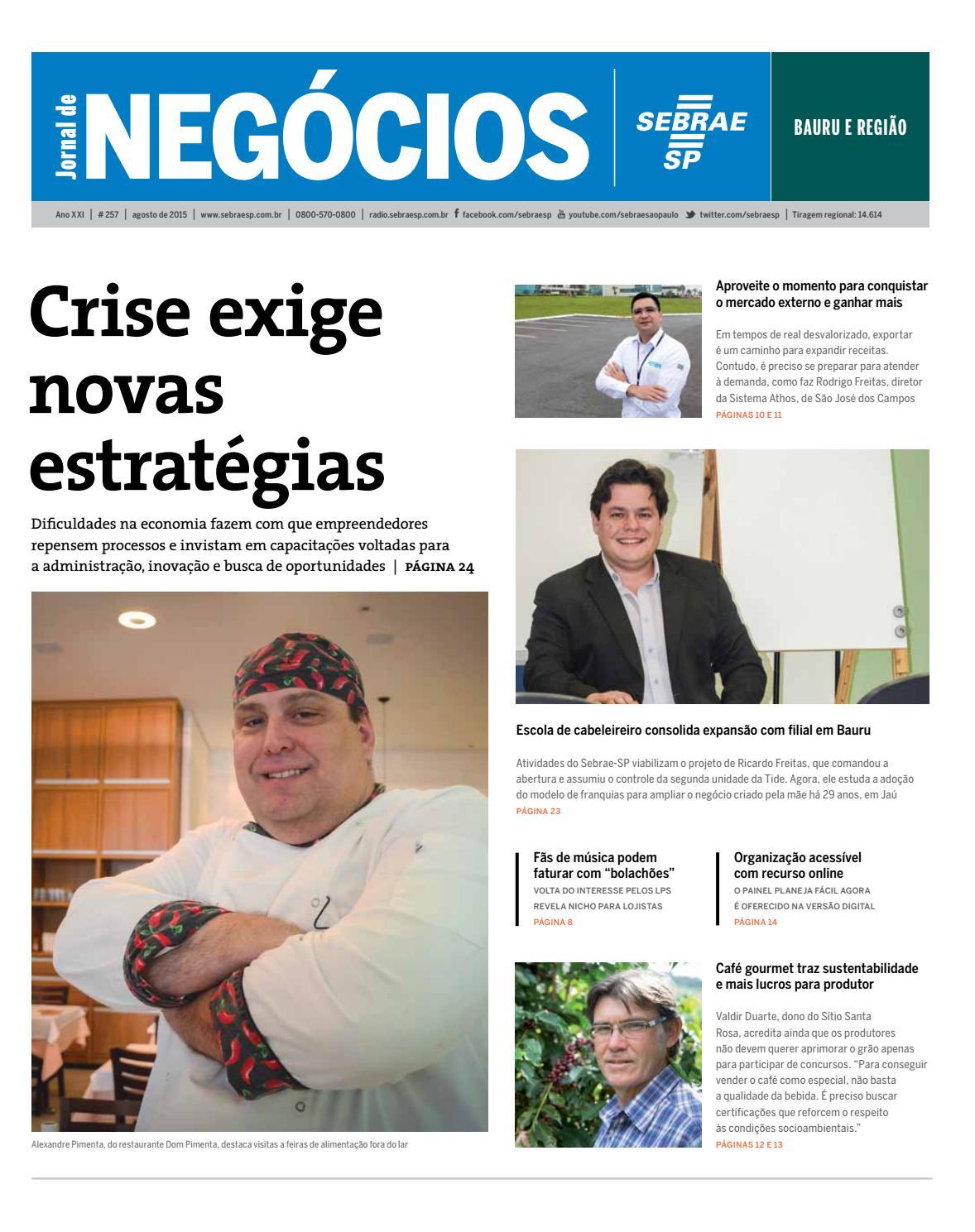42d5f6523ce Jornal de Negócios Sebrae-SP - Agosto de 2015 - Bauru e região by Sebrae-SP  - issuu