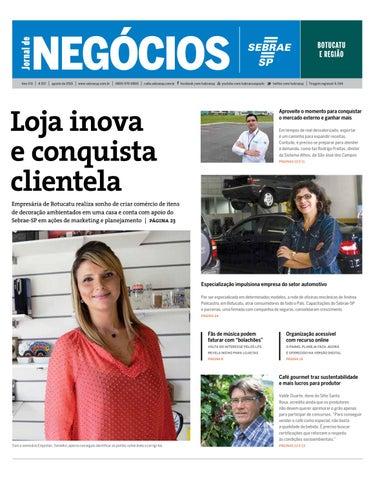 f60f452437e Jornal de Negócios Sebrae-SP - Agosto de 2015 -Botucatu e região by ...