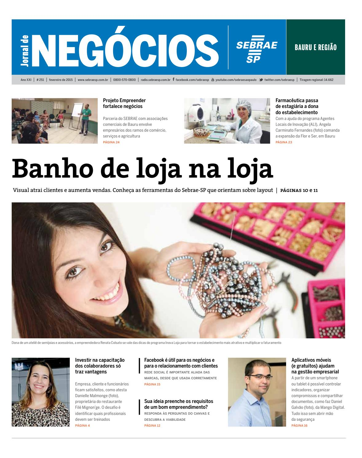 b3ed039d9b5d Jornal de Negócios Sebrae-SP - 01 de fevereiro de 2015 - Bauru by Sebrae-SP  - issuu