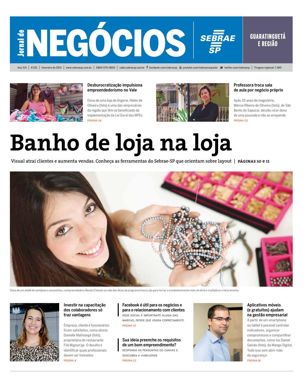 83106c355 Jornal de Negócios Sebrae-SP - 01 de fevereiro de 2015 - Guaratinguetá by  Sebrae-SP - issuu