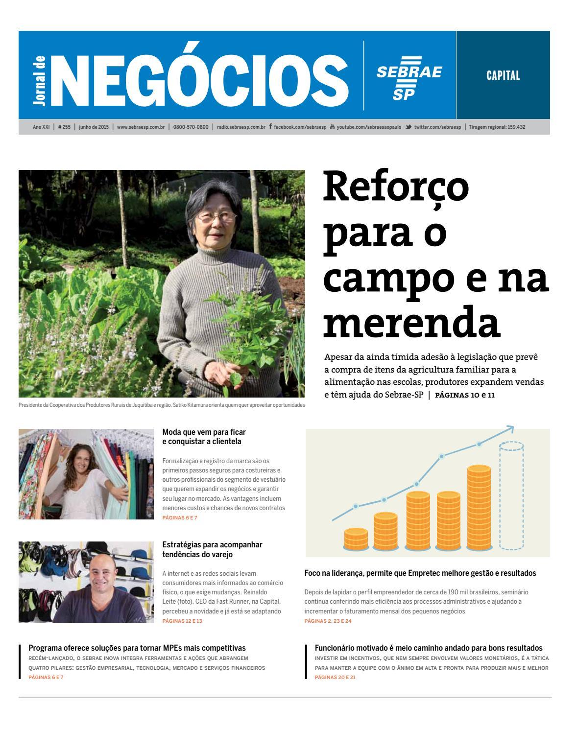 82a8508894d Jornal de Negócios Sebrae-SP - 01 de junho de 2015 - Capital by Sebrae-SP -  issuu
