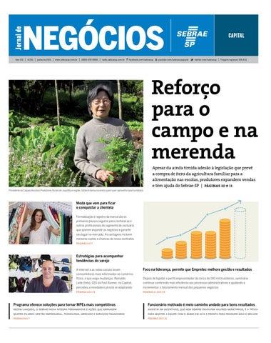 Jornal de Negócios Sebrae-SP - 01 de junho de 2015 - Capital by ... b481ee0a42