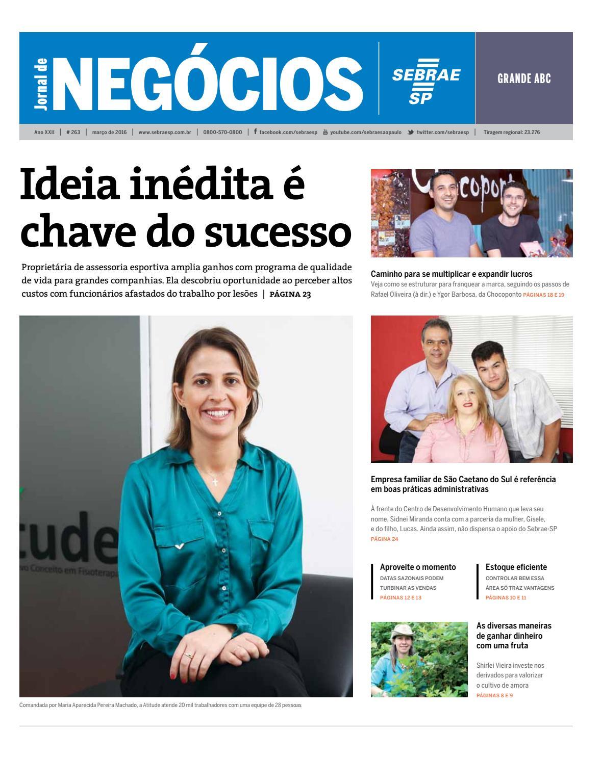194da3537 Jornal de Negócios Sebrae-SP - 01 de março de 2016 - Grande abc e região by  Sebrae-SP - issuu