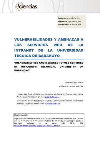 vulnerabilidades y amenazas a los servicios web de la