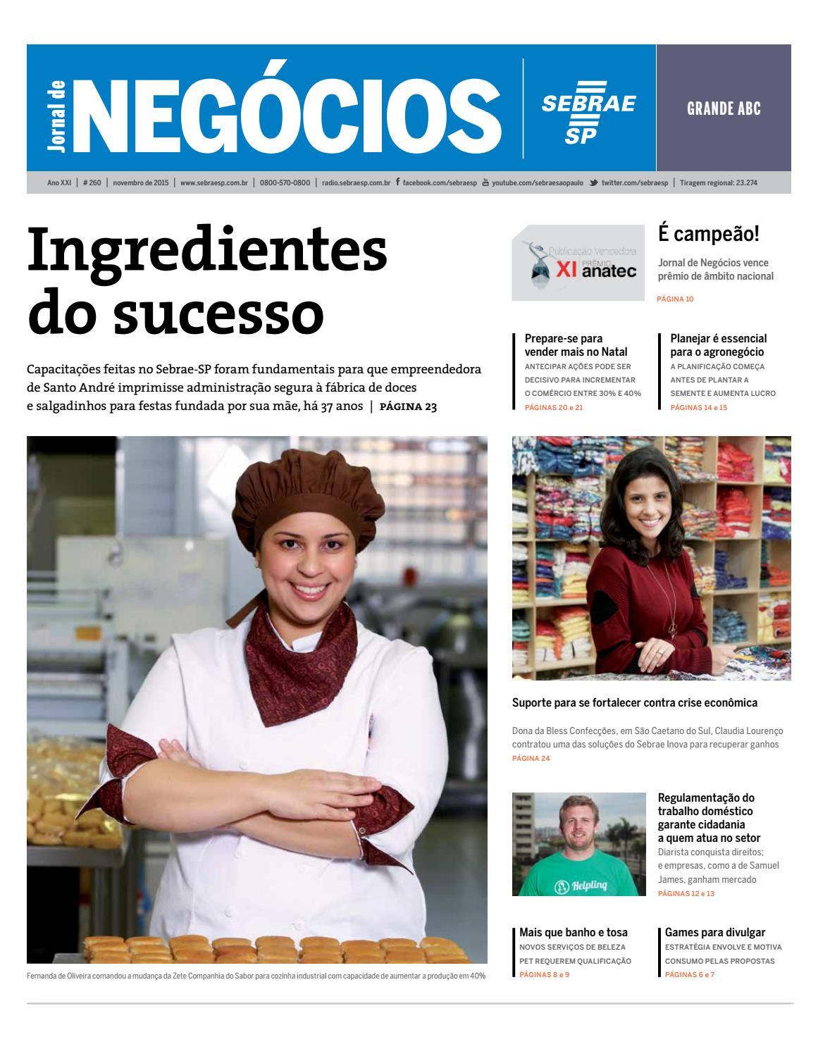 1f6123c76f7 Jornal de Negócios Sebrae-SP - 01 de novembro de 2015 – Grande ABC by Sebrae-SP  - issuu
