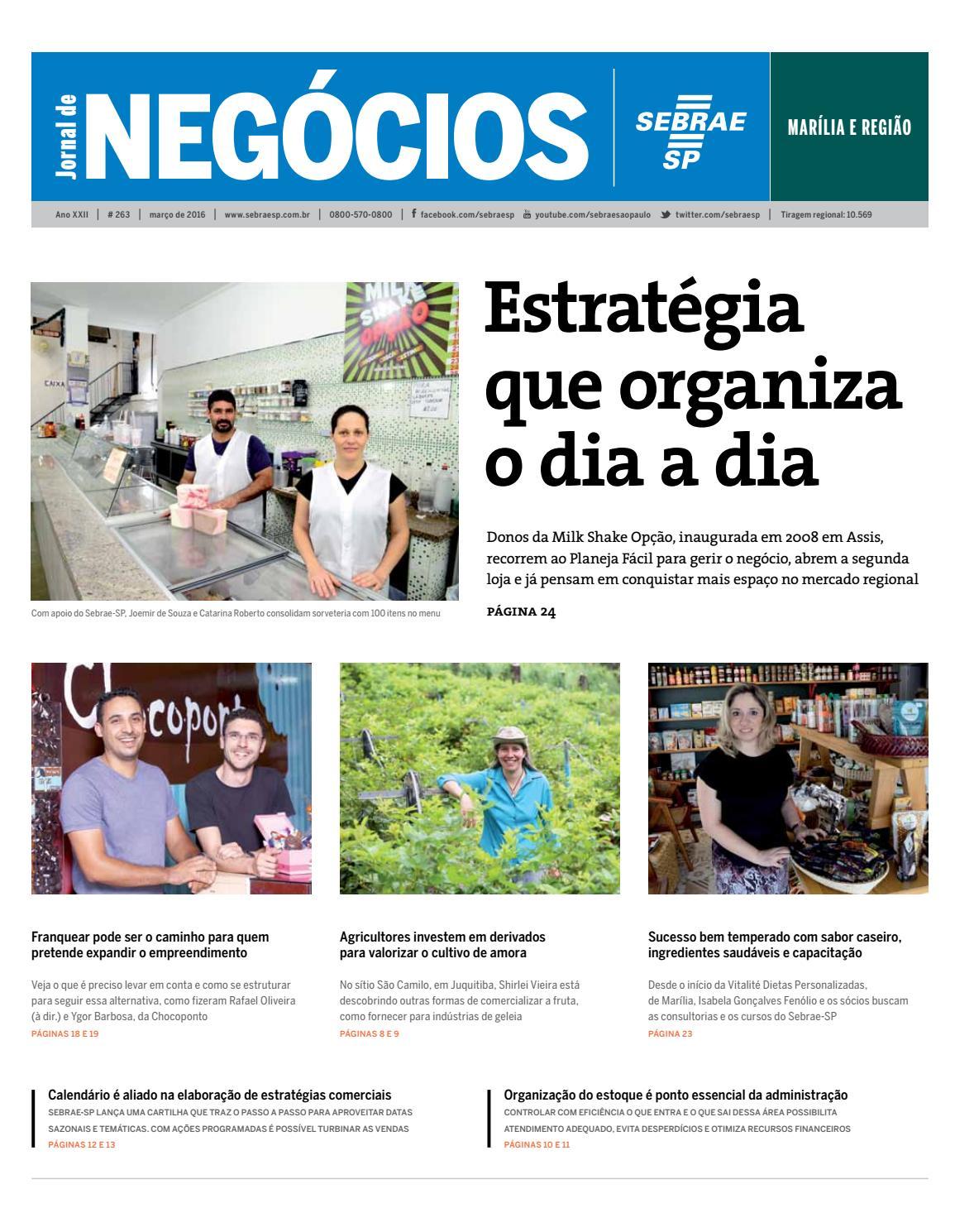 bf371749214 Jornal de Negócios Sebrae-SP - 01 de março de 2016 - Marilia e região by  Sebrae-SP - issuu