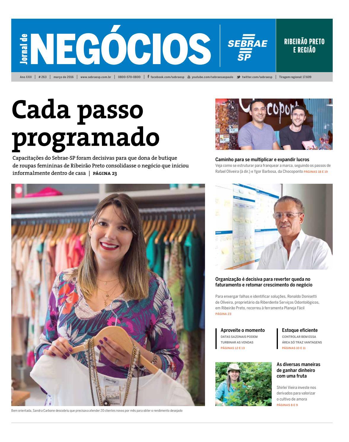 b68d6341879 Jornal de Negócios Sebrae-SP - 01 de março de 2016 - Ribeirão Preto e  região by Sebrae-SP - issuu