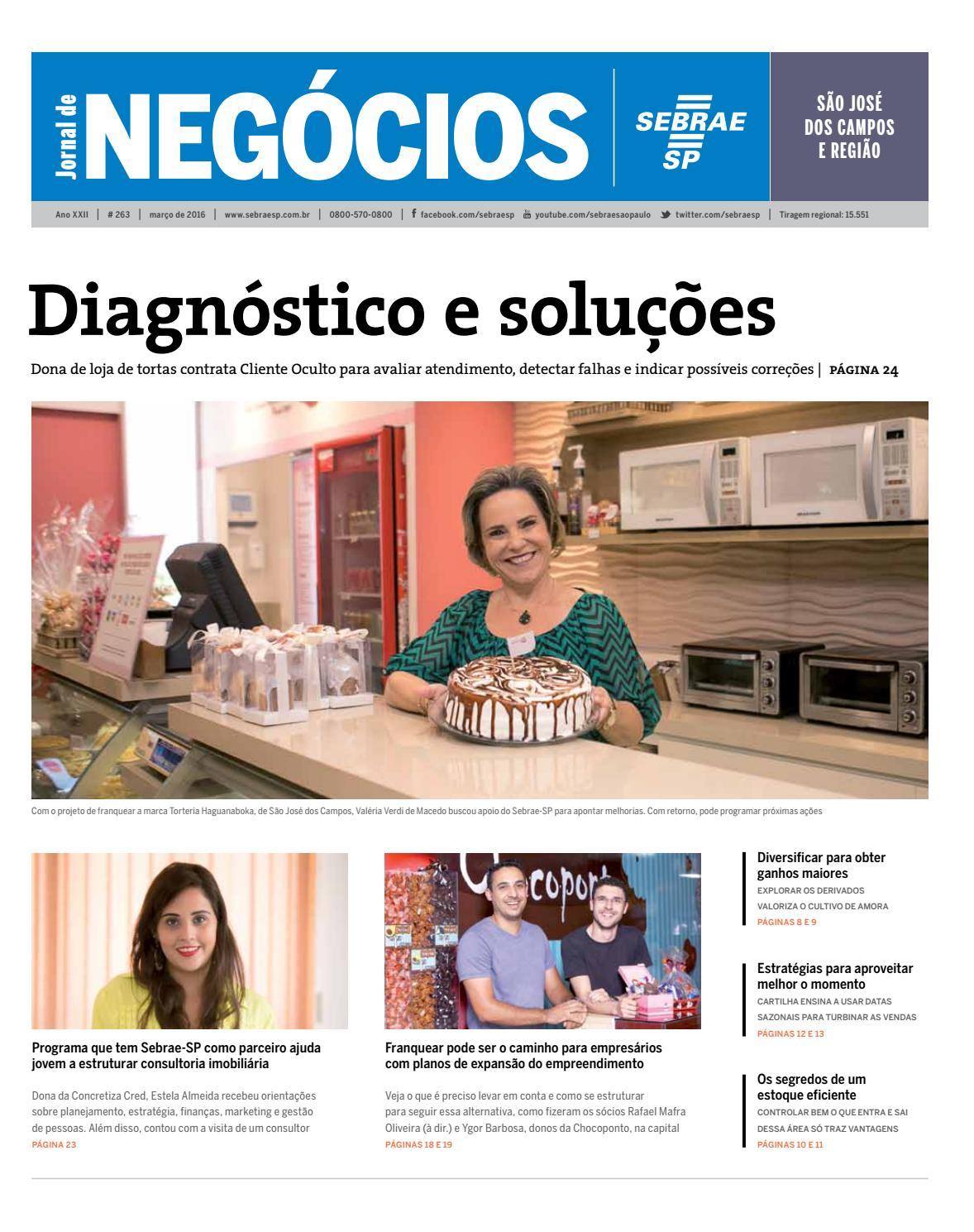 Jornal De Neg Cios Sebrae Sp 01 De Mar O De 2016 S O Jos Campos